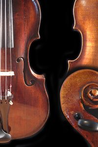 Old German violin with soft, round tone.