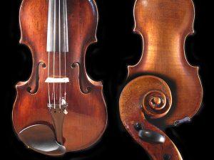 Старая немецкая скрипка с мягкой круглой тон.